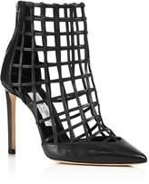Jimmy Choo Women's Sheldon 100 Caged Leather High Heel Booties