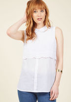 ModCloth Weekday Sophistication Sleeveless Top in L