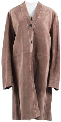 Marni Pink Leather Coats