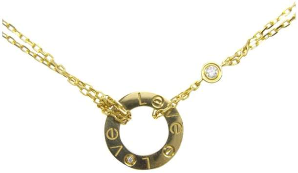 Cartier 18K Yellow Gold with Diamonds Necklace