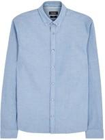 Calvin Klein Galen Blue Washed Cotton Oxford Shirt