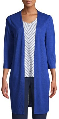 Time and Tru Women's 3/4 Sleeve V-Neck Cardigan 2fer