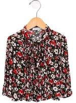Dolce & Gabbana Girls' Floral Tie-Accented Top