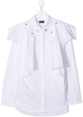 Diesel TEEN panelled cotton shirt