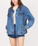 Insight Oversized Denim Jacket Jackie Blue Patch
