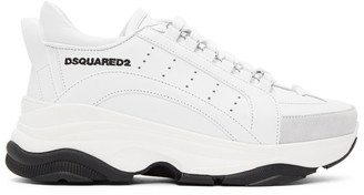 DSQUARED2 White Bumpy 551 Sneakers