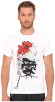 DSQUARED2 Chic Dean Fit Samurai Heart Dan Shirt Men's T Shirt