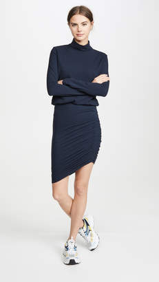 Sundry Turtleneck Blouson Dress