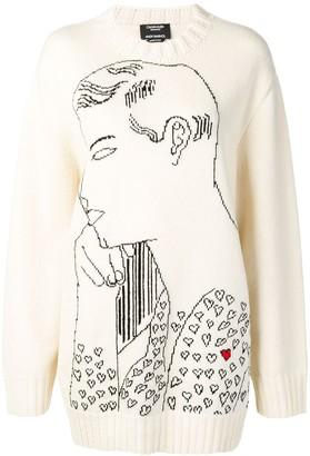 Calvin Klein Warhol intarsia jumper