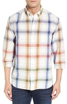 Tommy Bahama 'Chaveta' Regular Fit Check Linen & Cotton Sport Shirt (Big & Tall)