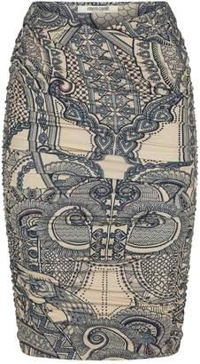Roberto Cavalli Ruched Midi Skirt
