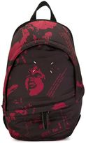 Maison Margiela printed padded backpack - men - Cotton/Polyester/Polyurethane - One Size