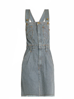 House of Holland X Lee striped denim dungaree dress