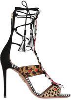 Aquazzura 105mm Zulu Printed Ponyskin Sandals