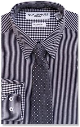 Nick Graham Men's Everywhere Modern-Fit Stretch Dress Shirt & Tie Set