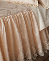 Dian Austin Couture Home Queen Cameo Skirted Coverlet