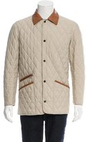 Salvatore Ferragamo Leather-Accented Quilted Jacket