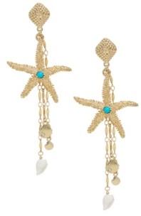 Ettika Starfish Seeker Drop Earrings
