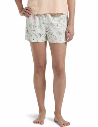 Hue Women's Plus Size Printed Knit Boxer Pajama Sleep Short
