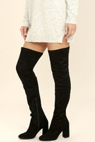 Seychelles Chrysalis Black Suede Leather Thigh High Boots