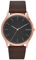 Skagen Skw6330 Jorn Leather Strap Watch, Dark Brown/black