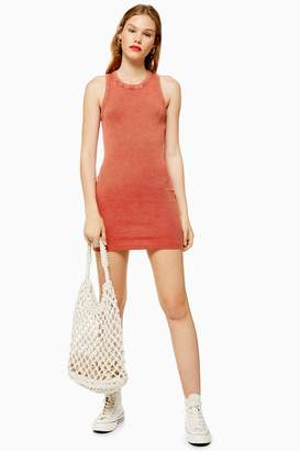 Topshop Washed Racer Bodycon Dress