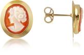 Del Gatto Woman Cornelian Cameo 18K Gold Earrings