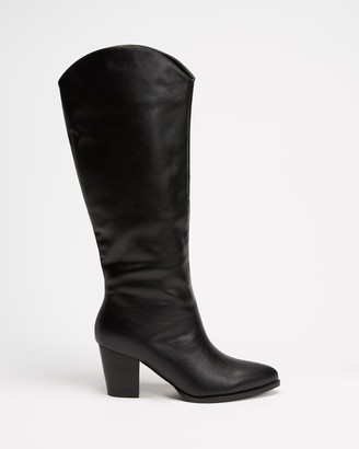 Billini - Women's Black Long Boots - Ferreira - Size 7 at The Iconic