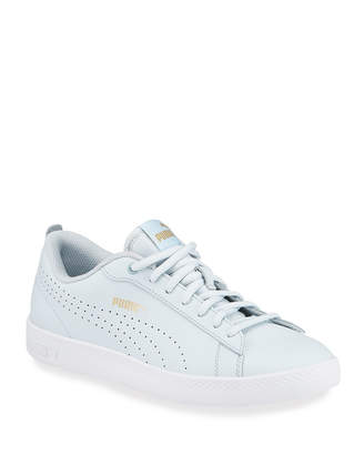 Puma Leather Low-Top Court Sneakers