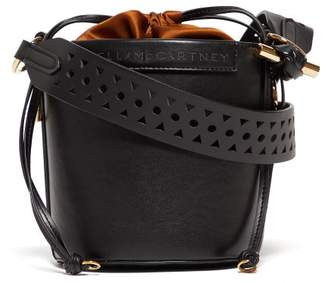 Stella McCartney Drawstring Faux-leather Bucket Bag - Womens - Black