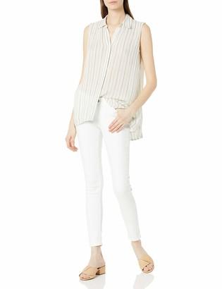 Bandolino Women's Kinley High Low Button up Sleeveless Shirt