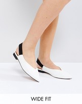 Asos LAURI Wide Fit Sling Back Ballet Flats