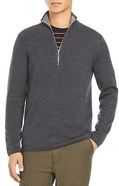 Theory Arnaud Quarter-Zip Erhart Sweater