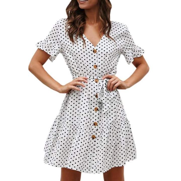 880d0d71b3 Short White Beach Dress - ShopStyle Canada