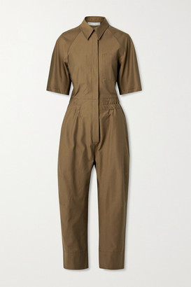 LVIR Cotton-blend Twill Jumpsuit - Army green