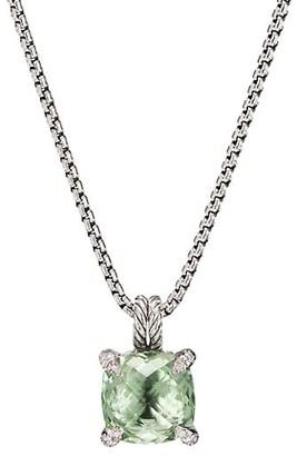 David Yurman Chatelaine Pendant Necklace with Gemstone & Diamonds/11mm