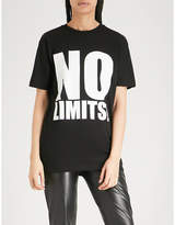 Gareth Pugh No Limits print cotton-jersey T-shirt