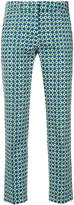 Max Mara novelty print cropped trousers