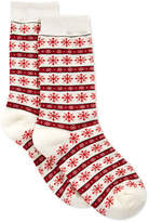 Charter Club Women's Snowflake Fair Isle Socks, Only at Macy's