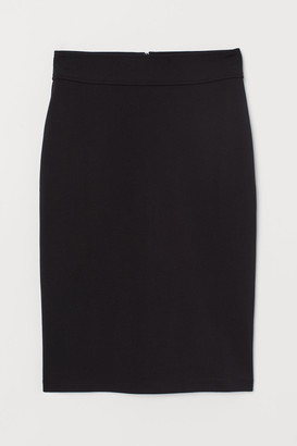 H&M Jersey Pencil Skirt - Black