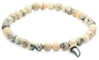 Sydney Evan 14K Yellow Gold, Diamond & African Opal Beaded Bracelet