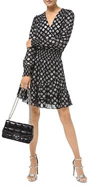 MICHAEL Michael Kors Metallic Dot Faux Wrap Dress