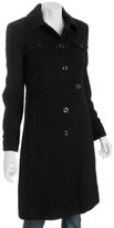 black wool military tab coat
