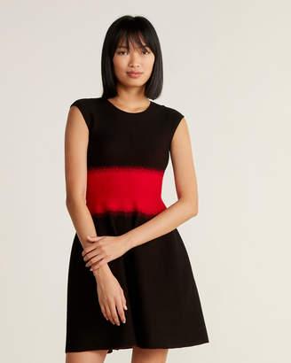 RVN Dots Brocade Flare Dress