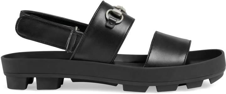 Gucci Leather Horsebit sandal