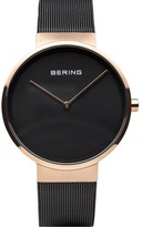 Bering Unisex Rosetone IP-Plated Milanese Bracelet Watch