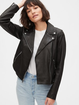 Gap Leather Moto Jacket