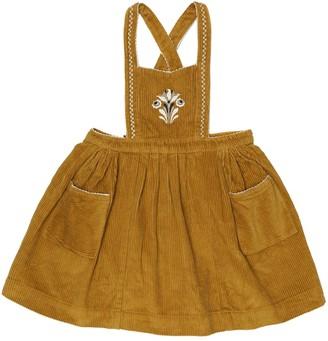Caramel Goose corduroy pinafore dress