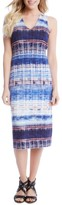 Karen Kane Women's Distressed Stripe Knit Midi Dress