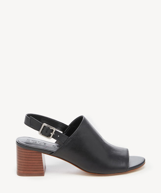 Sole Society Women's Shawde Peep Toe Sandals Black Size 5 Leather From